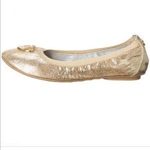 Stuart Weitzman Gold Embellished ballerina Flats
